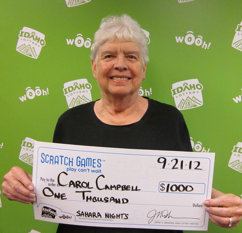 Carol Campbell - $1,000 Sahara Nights | by Idaho Lottery