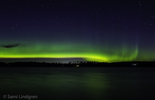 More green stuff! Northern lights 2.9.2016 at Mallusjärvi