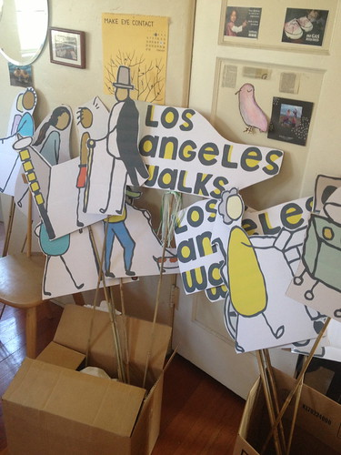 15 signs ready to go for walkLAvia on 10.7.12 | by losangeleswalks