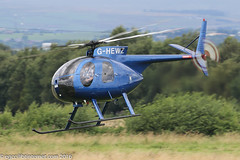 G-HEWZ - 1974 build Hughes 369HS, Barton resident recently re-registered from G-LEEJ