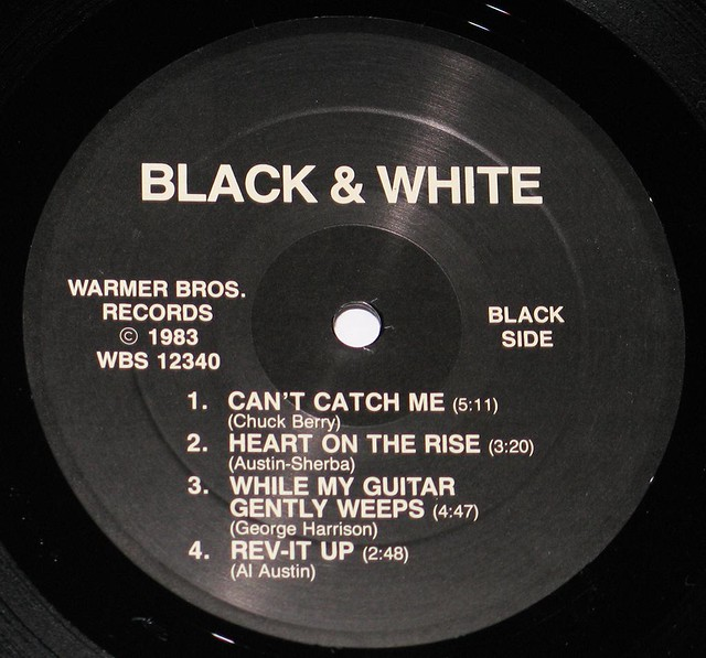 "BLACK + WHITE S/T SELF-TITLED AL AUSTIN 12"" LP"