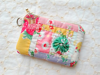 patchwork pouch for mom | by zakkaart