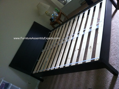 ikea nyvoll bed frames assembly service in herndon va flickr. Black Bedroom Furniture Sets. Home Design Ideas