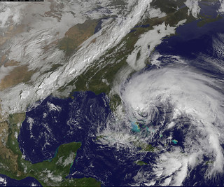 "NASA Sees Hurricane Sandy as the ""Bride of Frankenstorm"" Threaten U.S. East Coast 