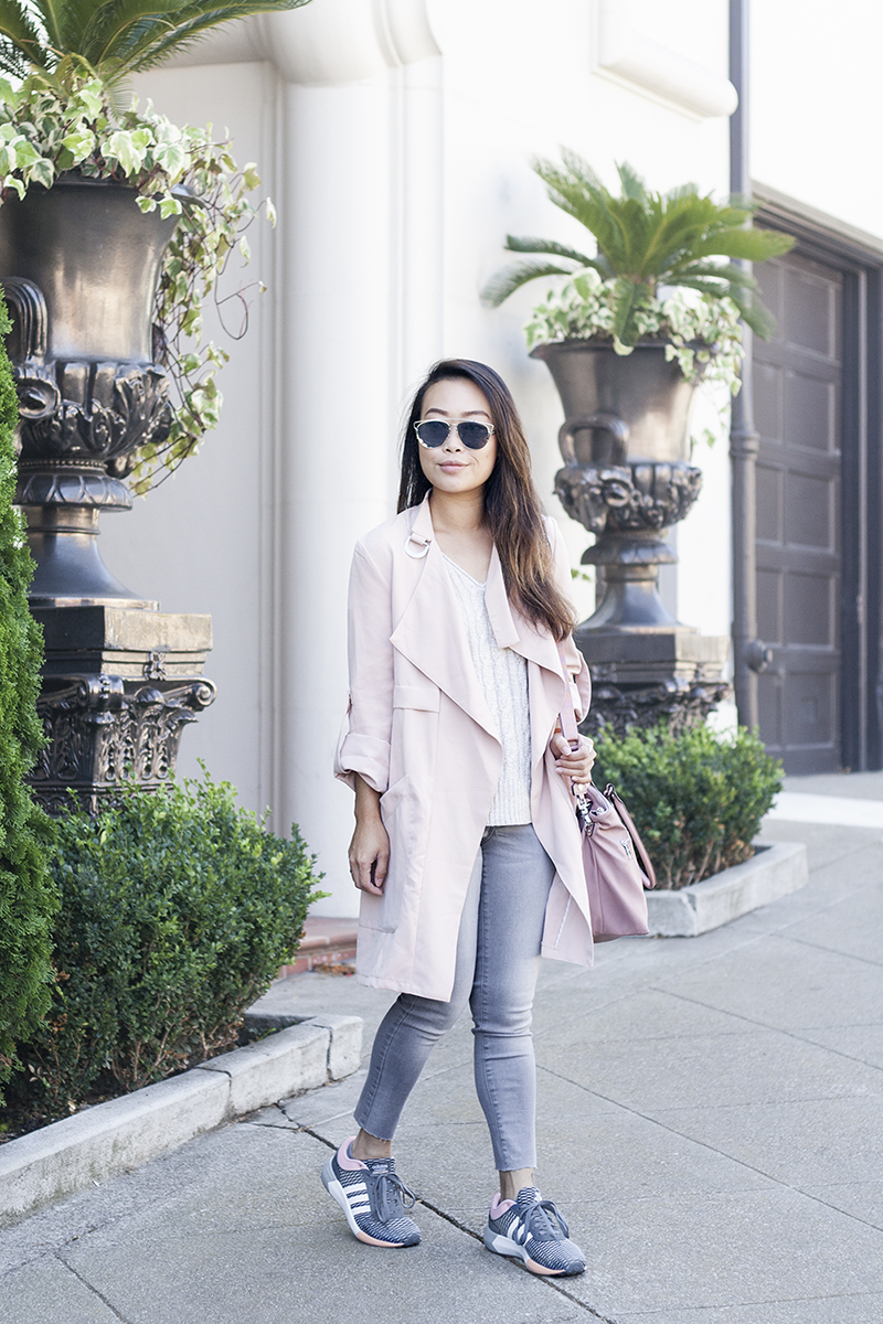 08sporty-chic-blush-pink-trench-denim-adidas-sneakers-style-fashion