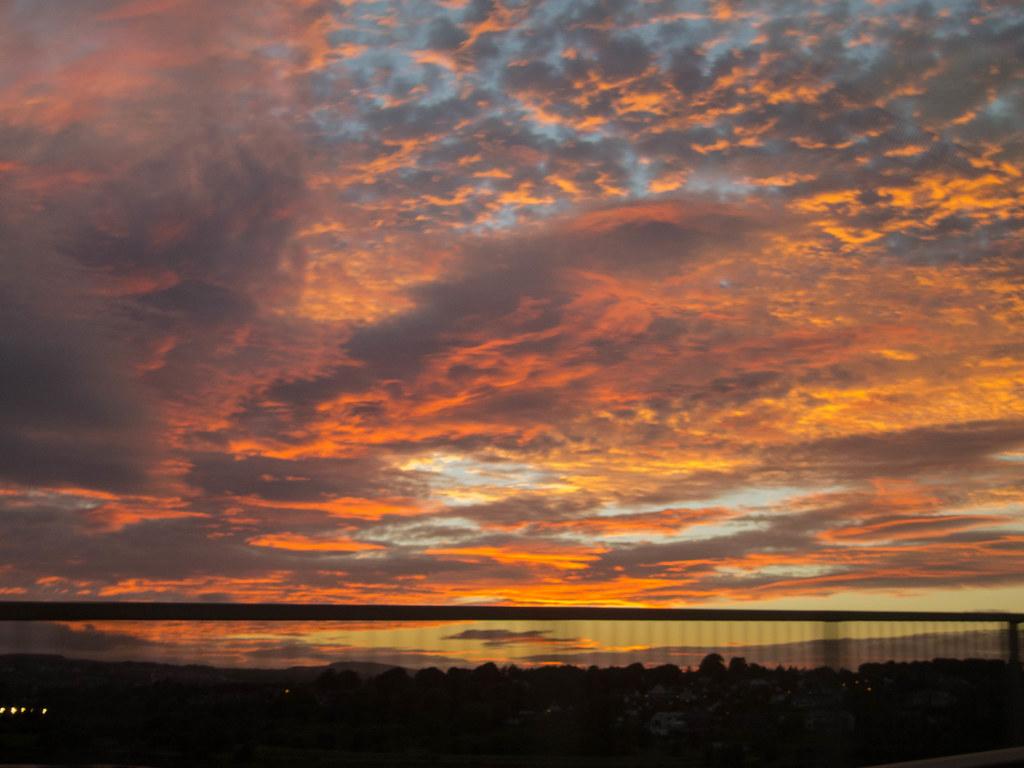 Sunset at 80 kph