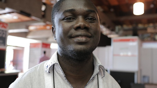Emmanuel Addai (Co-Founder, Farmerline) at DEMO Africa 2012 | by Jon Gosier