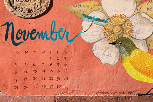 November desktop calendar | by Geninne
