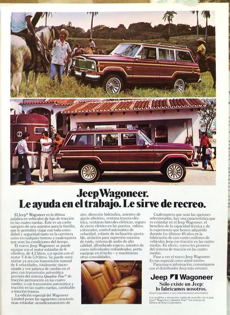 Jeep Wagoneer ad, GeoMundo Chile 1981