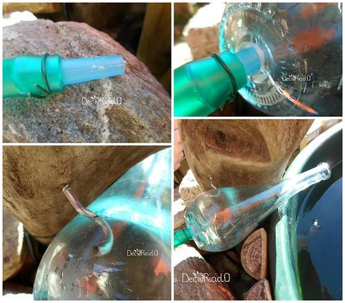 6. fissaggio bottiglia per cascata laterale