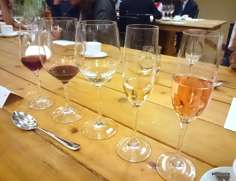 Wine pairings at Trius