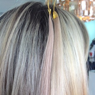 We customize EVERYTHING for EVERYONE. This client is getting custom colored microlinks | by TiffaniChanelHair