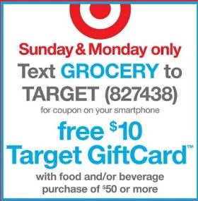 10 dollars off 50 target coupon
