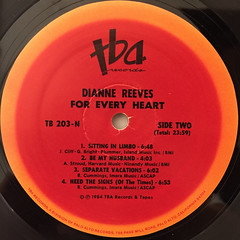 DIANNE REEVES:FOR EVERY HEART(LABEL SIDE-B)