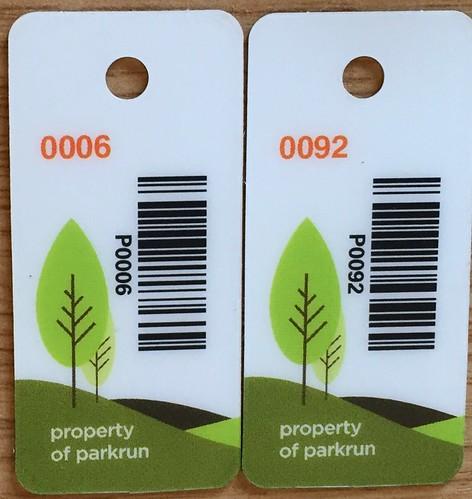 parkrun barcodes