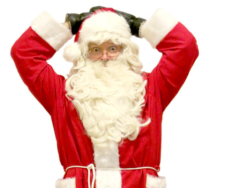 Santa Claus amazed