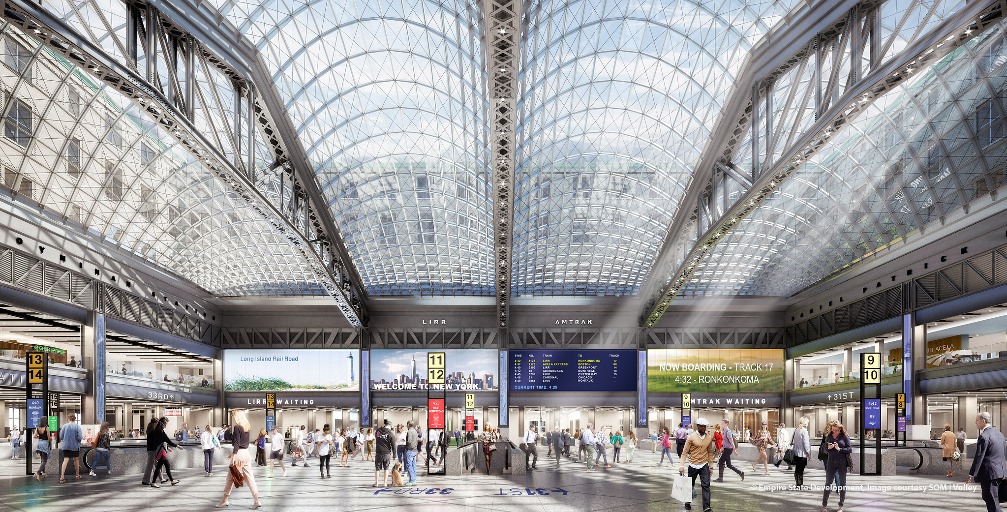 Moynihan Train Hall Renderings