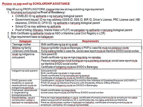 Marikina Scholarship for College and Senior High Students