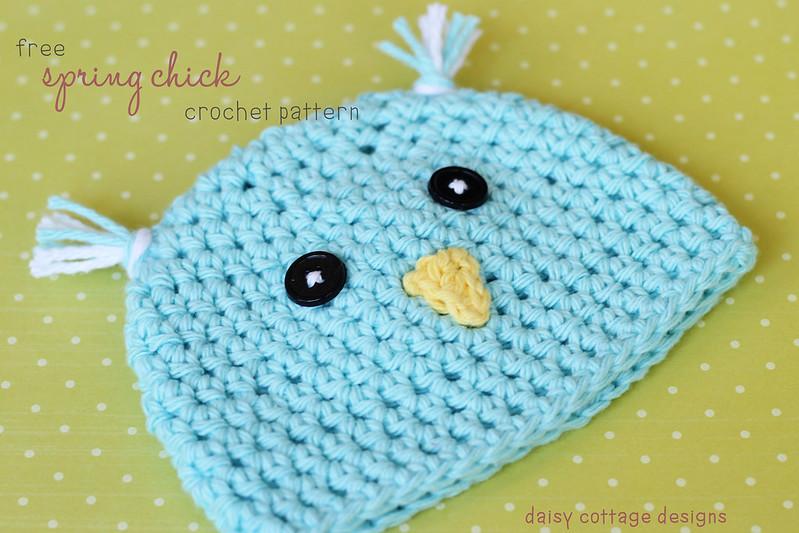 free spring chick crochet pattern