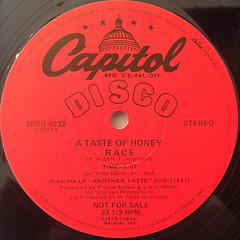 A TASTE OF HONEY:RACE(LABEL SIDE-B)