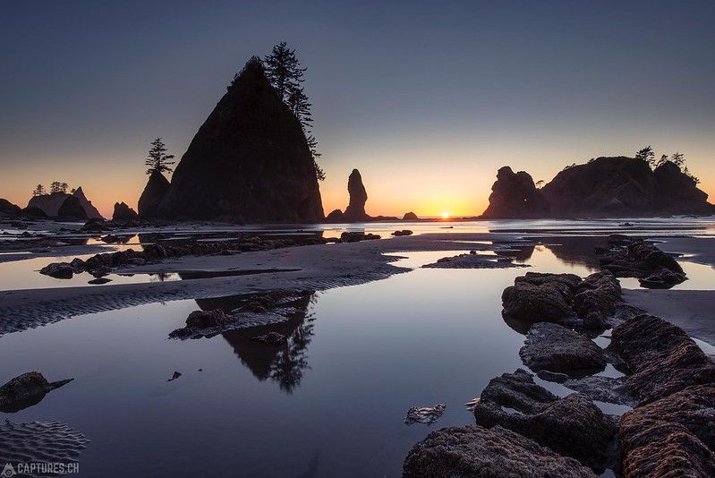 Sunset at the Shi Shi beach - Olympic National Park