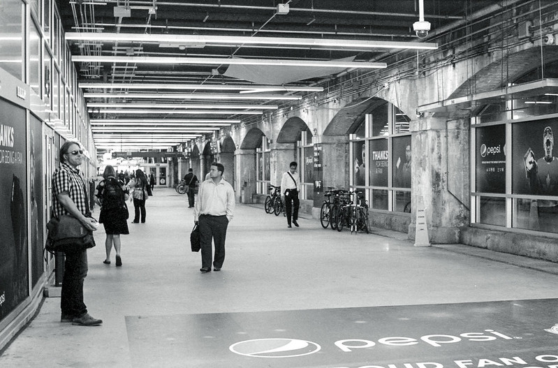 Loitering in the York St. Concourse