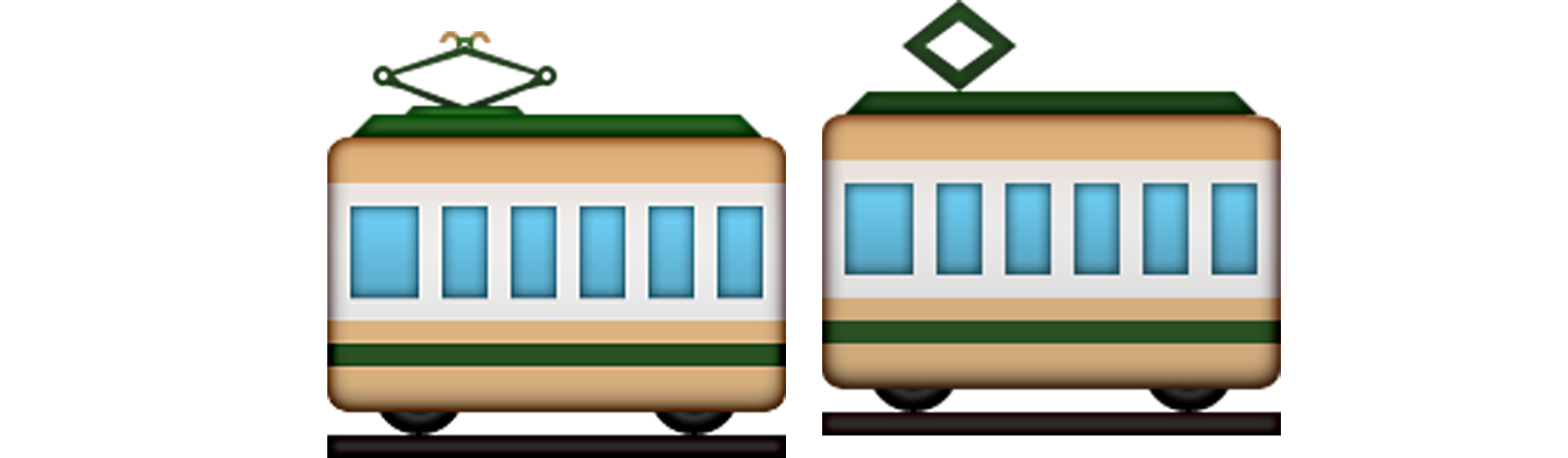 iOS: Tram und Railway Car