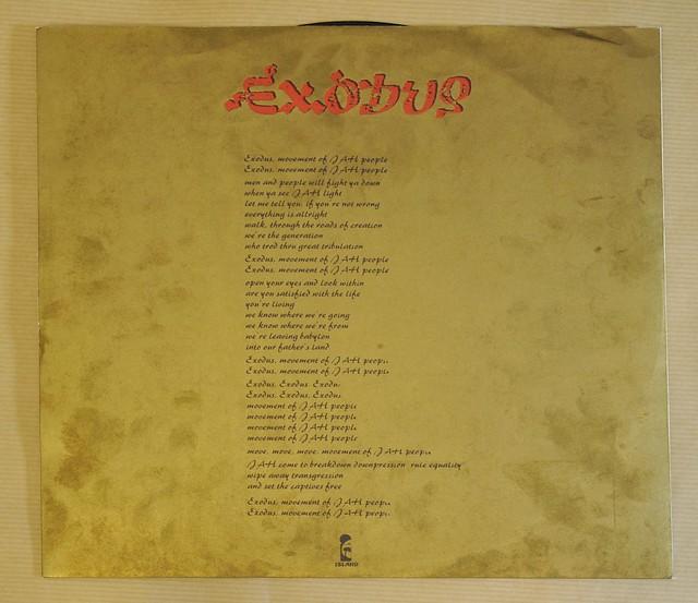 "BOB MARLEY & THE WAILERS EXODUS italy 12"" LP VINYL"