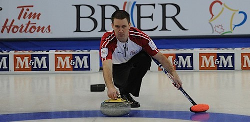 Edmonton Ab.Mar7,2013.Tim Hortons Brier.N.L. skip Brad Gushue,CCA/michael burns photo | by seasonofchampions
