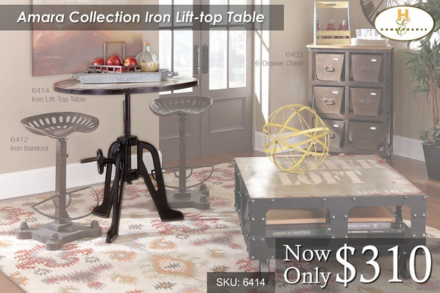 Amara Collection Iron Lift Top Table