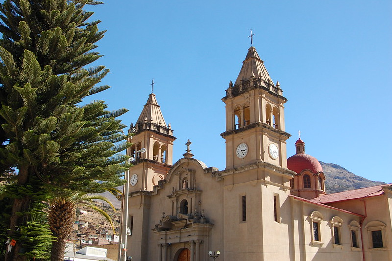 Cathedral in Tarma, Junín, Peru