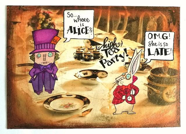 (high) tea party - mailart