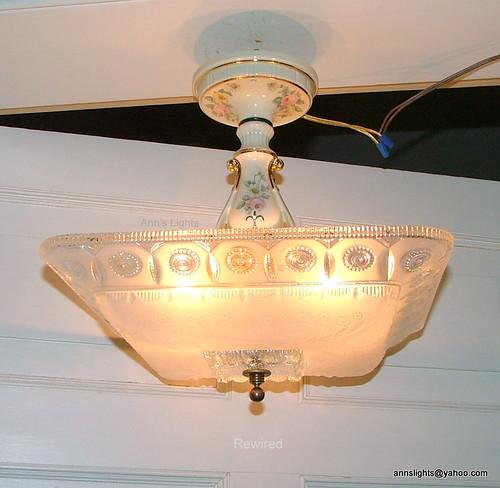 Vintage Lighting Porcelier Porcelain Hanging Ceiling Light Flickr