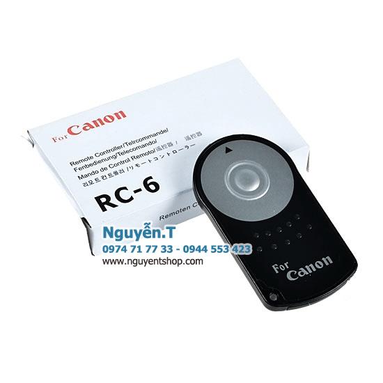 Remote hồng ngoại điều khiển từ xa RC-6 máy ảnh Canon