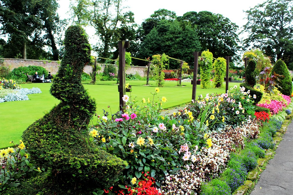 Topiary at House for an Art Lover garden, Glasgow.
