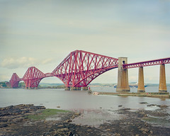 Scotland Forth Rail Bridge Ektar Large Format V700