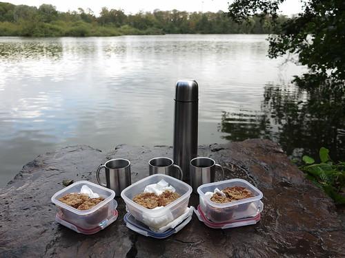 Walnuss-Apfel-Muffins zum heißen Tee (bei Rast am Ewaldsee)