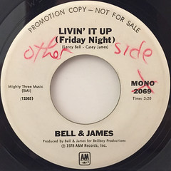 BELL & JAMES:LIVIN' IT UP(FRIDAY NIGHT)(LABEL SIDE-B)