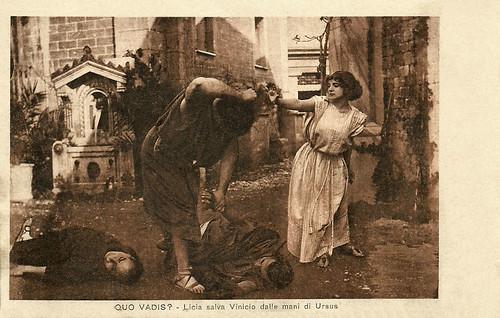 Lea Giunchi and Bruto Castellani in Quo vadis?