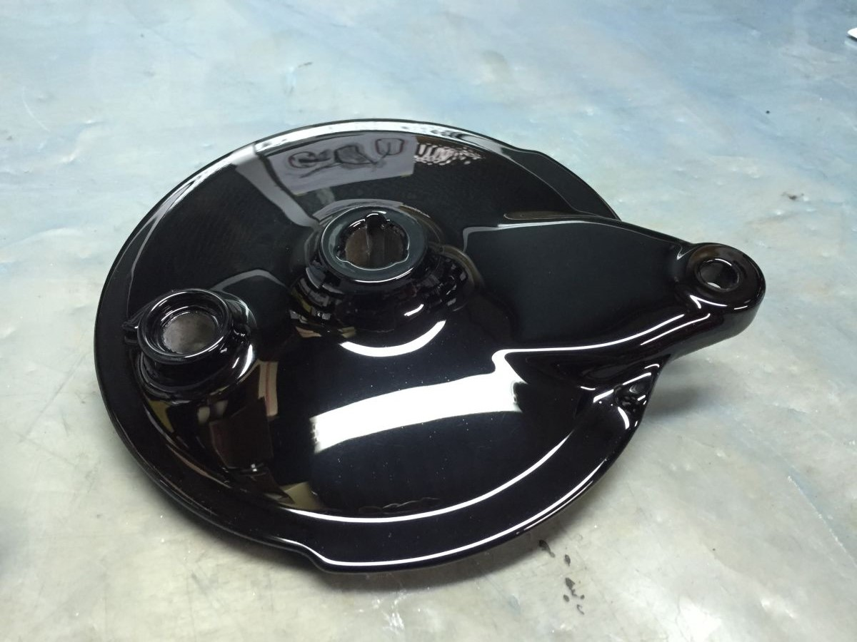 Yamaha SR400 ハブ パウダーコーティング
