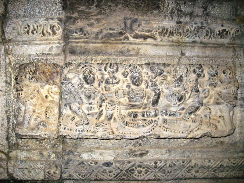 Sculpture in Avantiswamin Temple in Awantipora, Jammu and Kashmir, India