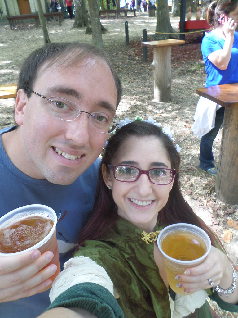 Drinking mead at the Maryland Renaissance fair