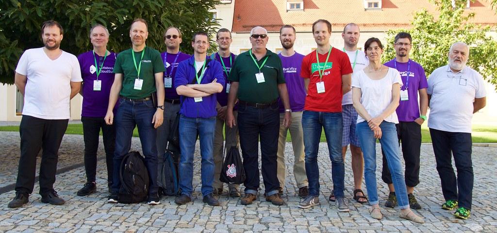 Csoportkép a LibreOffice konferencián Brnoban