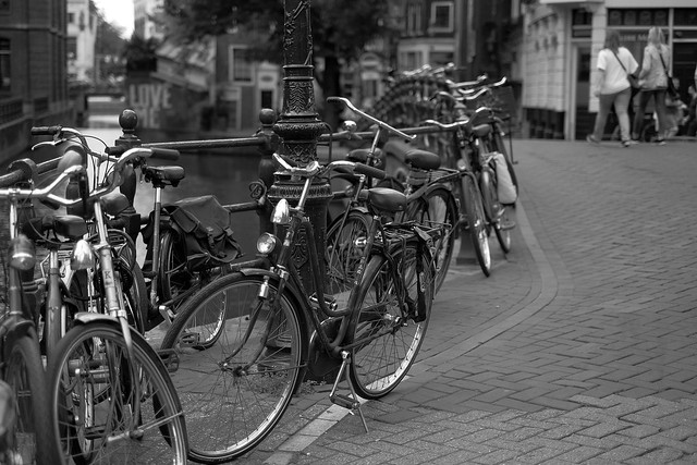 Bike at canal in Amsterdam 48