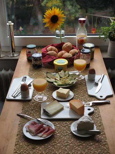 Frühstück am Samstagmorgen