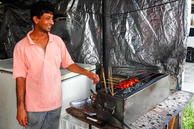 Grilling Percik Chicken