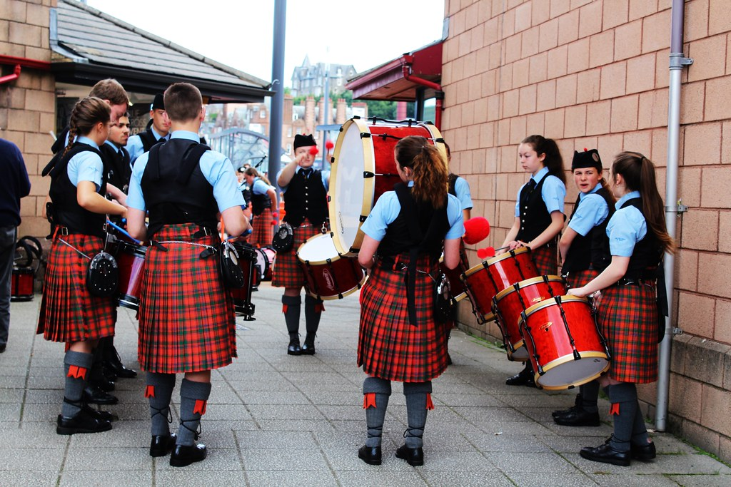 School Pipe Band, Oban, Scotland