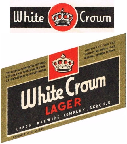 White-Crown-Lager-Beer-Labels-Akron-Brewing-Company