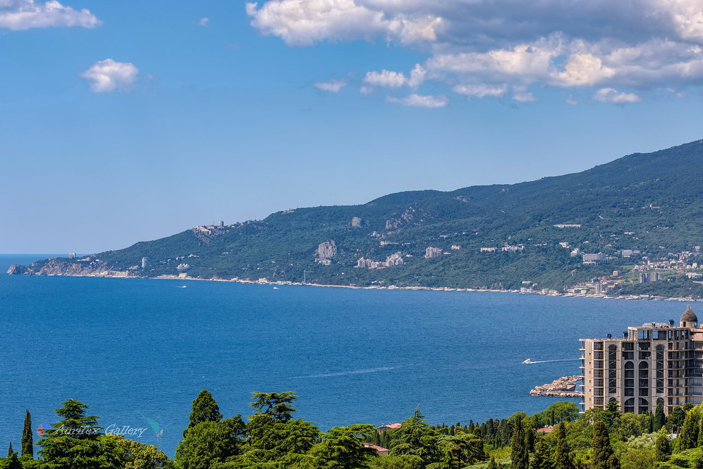 View from nikitsky botanical gardens, yalta