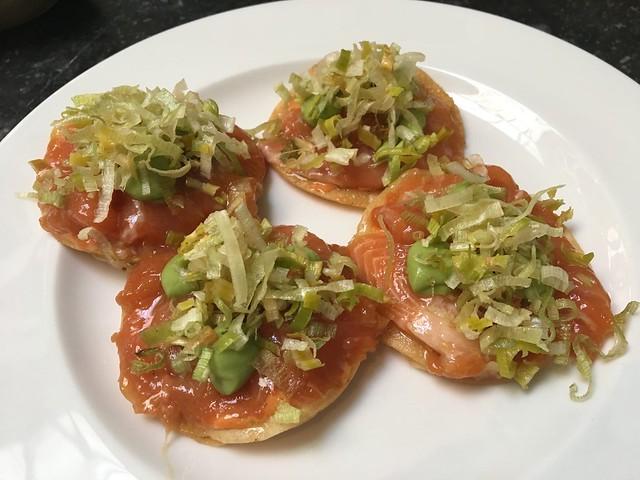 Trout tostadas - Cala